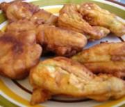 Fried stuffed zucchini blossoms