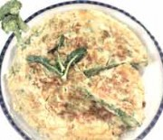Omelette with broccoli and basil