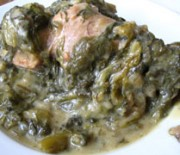 Lamb with Cos Lettuce in Egg and Lemon Sauce