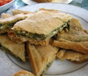 Spinach pie with cheese
