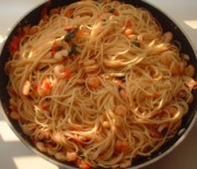 Greek Style pasta with shrimps