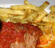 Beef with red sauce