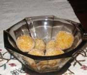 Almond sweets with tangerine
