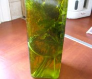Aromatic olive oil with herbs