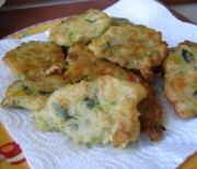Fried rissoles with zucchini blossoms