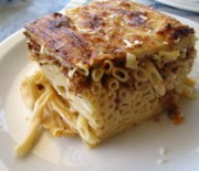 Meat and macaroni pie