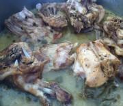 Rabbit stew in lemon sauce