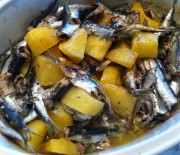 Baked Sardines with potatoes