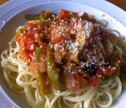 Pasta with greek style sauce