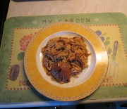 Squid with orzo
