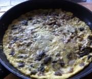 Chicken and mushroom omelette