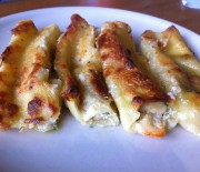 Cannelloni with shrimps