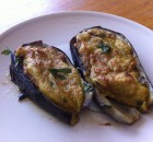 Eggplants with potato puree
